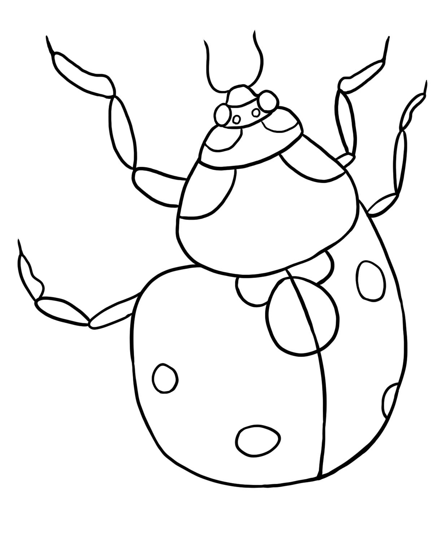 Uncategorized Ladybug Coloring free ladybug coloring page lb2