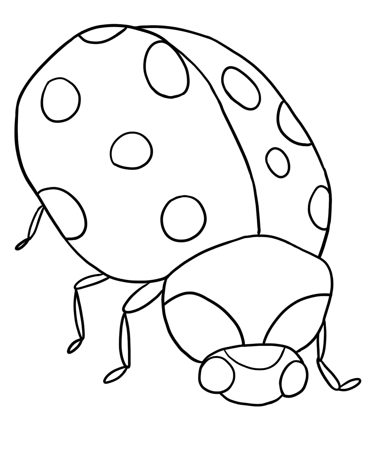 free ladybug coloring page lb4 - Colour In Sheet